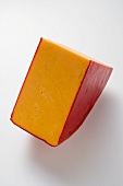 Wedge of Cheddar cheese