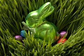 Easter sweets in grass