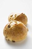 Two raisin buns