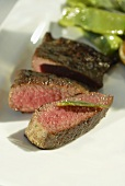 Lamb fillet with sage butter