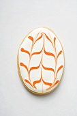 Egg-shaped Easter biscuit