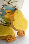 Two Easter biscuits (yellow chicks)