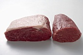Fresh rib of beef and fillet of beef