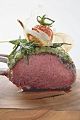 Roast rack of lamb with herb crust