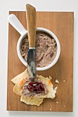 Duck rillettes with cherry compote