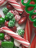 Assorted Christmas sweets (close-up)