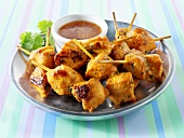 Turkey skewers with chilli dip (Asia)
