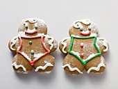 Two sugared gingerbread men