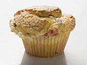 Cranberry muffin in paper case