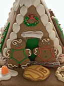 Gingerbread house with gingerbread people