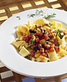 Pappardelle with tuna ragout