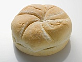 A bread roll, split
