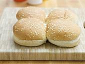 Sesame buns for hamburgers