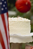 Coconut cake for the 4th of July (USA)