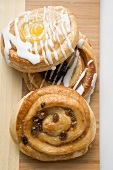 Three different Danish pastries