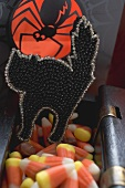 Sweets for Halloween (black cat, candy corn)