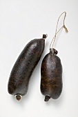 Two black puddings