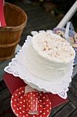 Coconut cake for the 4th of July, USA