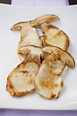 Fried cep slices