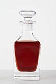 Vinegar in a small glass bottle