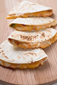 Tortillas with cheese filling