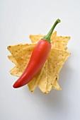 Nachos with red chilli