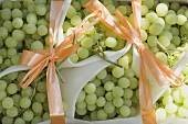 Green grapes with bows