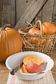 Rustic pumpkin still life