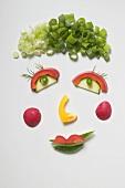 Amusing vegetable face