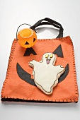 Ghost biscuit and Halloween decoration