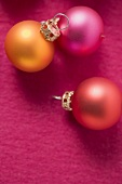 Three Christmas tree baubles