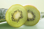 Kiwi fruit, partly sliced