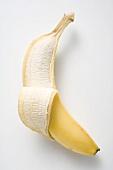 Banana, partly peeled