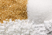 Four different types of sugar (full-frame)
