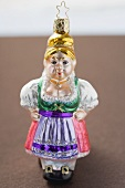 Christmas tree ornament from Bavaria (woman in dirndl)