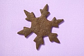 Biscuit in the shape of a snowflake