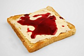 Buttered toast with jam