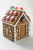 Gingerbread house with peppermints
