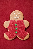 Gingerbread man with red sugar clothing