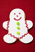 Gingerbread man with white icing