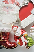 Sweet Father Christmas hat, Christmas tree ornaments & biscuit