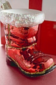Christmas tree ornament (red boot)