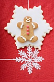 Gingerbread man on star biscuit