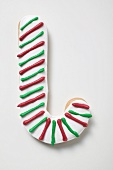 Iced Christmas biscuit (candy cane)