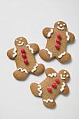Three gingerbread men