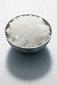 Fleur de sel in metal dish