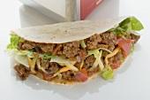 Mince taco to take away