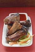 Crispy fried pork ribs with sauce (Asia)
