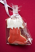 Boot biscuit in cellophane bag