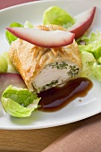 Turkey fillet with herb stuffing en croute